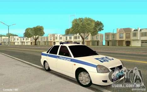 Lada Priora DPS para GTA San Andreas