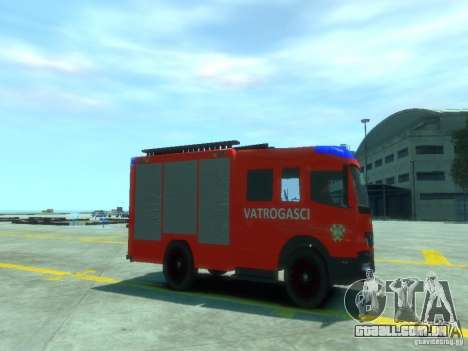 Mercedes-Benz Atego Fire Departament para GTA 4 vista direita