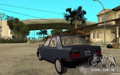 Renault 9 Mod 92 TXE para GTA San Andreas traseira esquerda vista