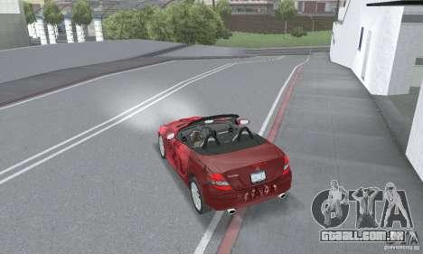 Mercedes-Benz SLK 350 para vista lateral GTA San Andreas