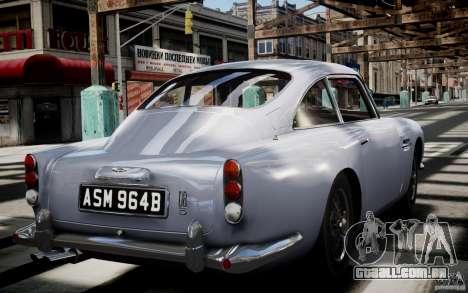 Aston Martin DB5 1964 para GTA 4 vista lateral
