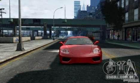 Ferrari 360 modena para GTA 4 vista de volta