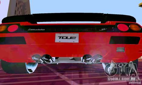 Lamborghini Diablo SV 1997 para GTA San Andreas vista direita