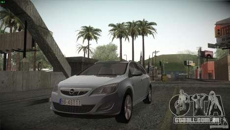 Opel Astra 2010 para GTA San Andreas vista interior