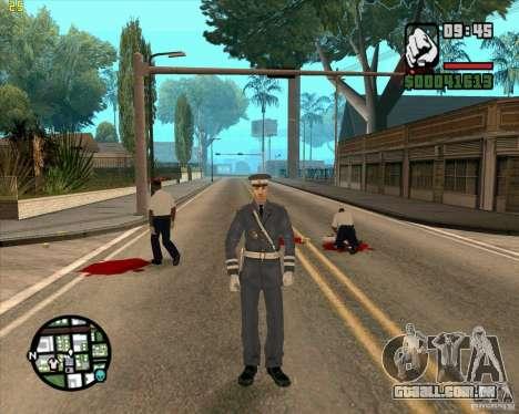 Serviço de segurança russo para GTA San Andreas por diante tela