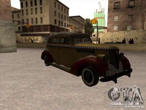 Shubert táxi de MAFIA 2 para GTA San Andreas esquerda vista