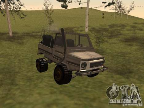 LuAZ 969 Offroad para GTA San Andreas esquerda vista