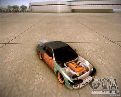 Nissan Silvia S13 Under Construction para GTA San Andreas vista inferior