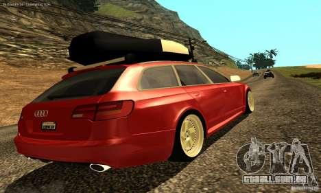 Audi A6 Avant Stanced para GTA San Andreas vista inferior