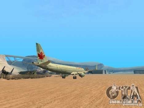 Embraer ERJ 190 Air Canada para GTA San Andreas vista traseira