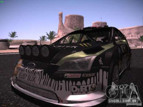 Ford Focus RS Monster Energy para GTA San Andreas vista traseira