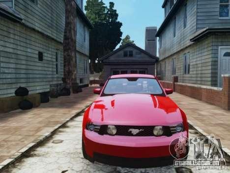 Ford Mustang GT 2011 para GTA 4 vista de volta