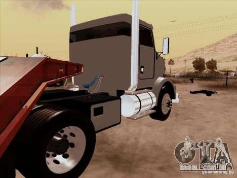 Kenworth T800 Econom para GTA San Andreas traseira esquerda vista
