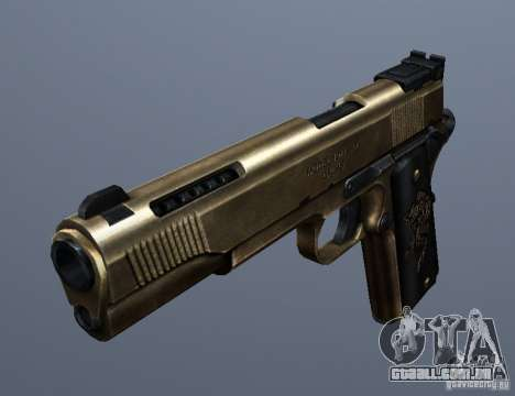 Golden 1911 para GTA San Andreas segunda tela