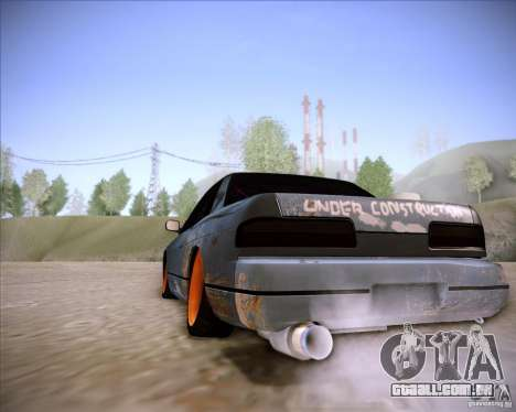 Nissan Silvia S13 Under Construction para GTA San Andreas vista direita