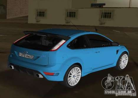Ford Focus RS 2009 para GTA Vice City deixou vista