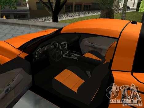 Chevrolet Corvette (C6) para GTA San Andreas vista traseira