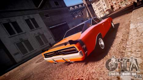 Dodge Charger RT 1969 esportes de v 1.1 tun para GTA 4 vista lateral