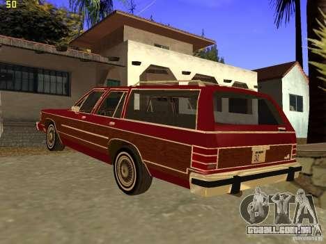 Mercury Grand Marquis Colony Park para GTA San Andreas esquerda vista