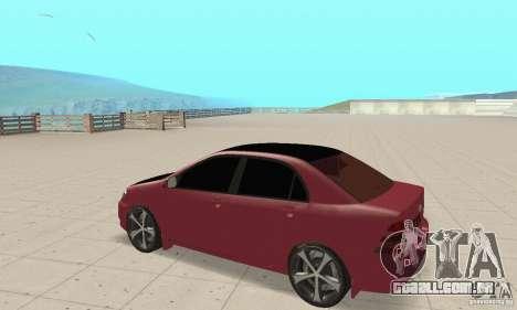 Toyota Corolla Tuning para GTA San Andreas vista traseira