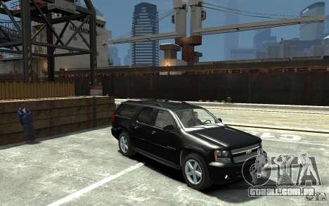 Chevrolet Suburban 2008 (beta) para GTA 4 vista de volta