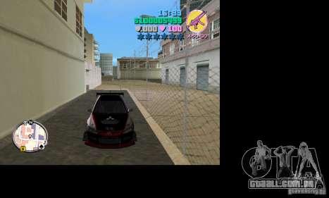 Mitsubishi Lancer Evo VIII para GTA Vice City vista traseira esquerda