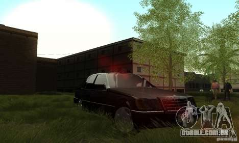 Mercedes-Benz 400 SE w140 Deputat Style para vista lateral GTA San Andreas