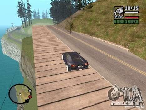 Viagens sobre o oceano (versão Beta) para GTA San Andreas segunda tela