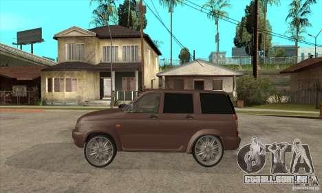 UAZ Patriot para GTA San Andreas traseira esquerda vista