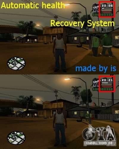 Saúde de recarga automática. para GTA San Andreas