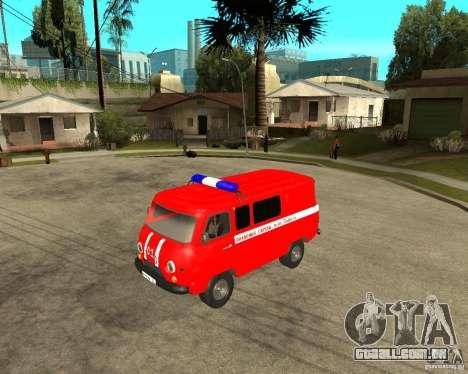Brigada de incêndio UAZ para GTA San Andreas esquerda vista
