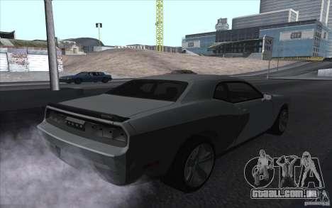 Dodge Challenger SRT8 para GTA San Andreas esquerda vista