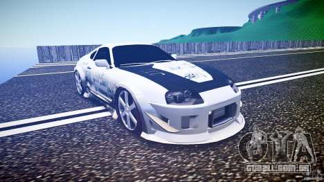 Toyota Supra ProStreet Style para GTA 4 vista de volta