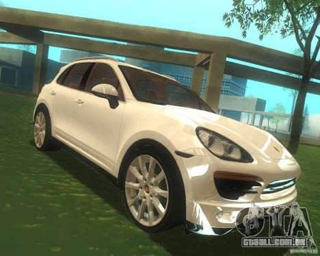 Porsche Cayenne 958 2010 V1.0 para GTA San Andreas vista traseira