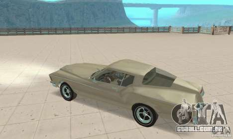 Buick Riviera 1972 Boattail para GTA San Andreas vista traseira