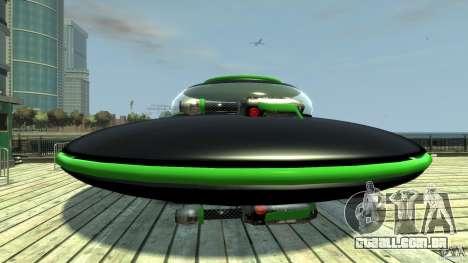 UFO neon ufo green para GTA 4 esquerda vista