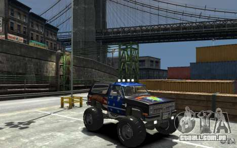 Chevrolet Blazer K5 1986 Monster Edition para GTA 4 vista de volta