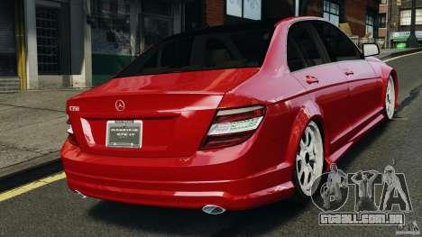 Mercedes-Benz C350 Avantgarde v2.0 para GTA 4 traseira esquerda vista