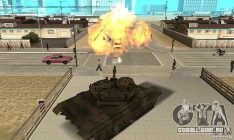 Tanque t-90 para GTA San Andreas vista direita