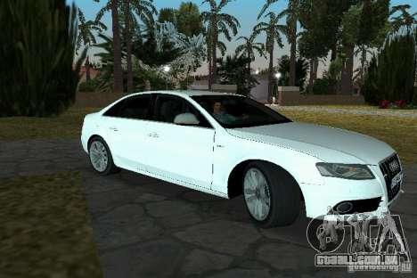 Audi S4 2010 para GTA Vice City vista traseira esquerda