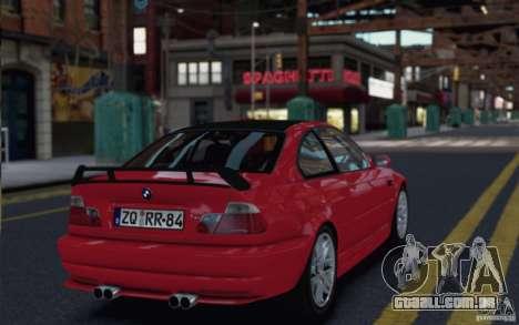 BMW M3 Street Version e46 para GTA 4 vista direita