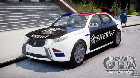 Carbon Motors E7 Concept Interceptor Sherif ELS para GTA 4 vista de volta