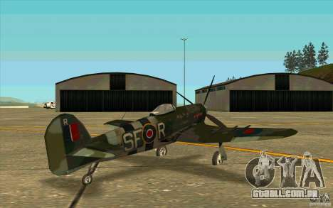 Hawker Typhoon para GTA San Andreas vista direita