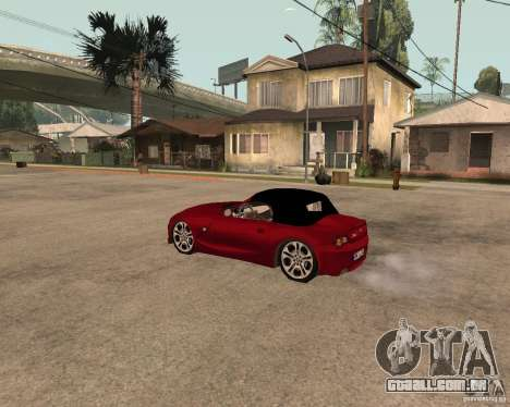 BMW Z4 para GTA San Andreas vista direita