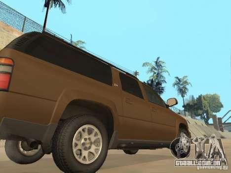 Chevrolet Suburban 2003 para GTA San Andreas vista interior