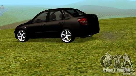 LADA Granta v 2.0 para GTA San Andreas esquerda vista