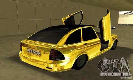 Lada Priora Gold para GTA San Andreas esquerda vista