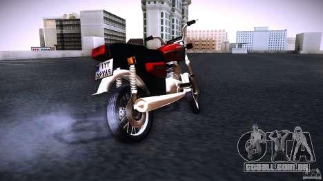 Honda CG 125 para GTA San Andreas traseira esquerda vista