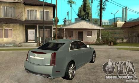 Cadillac CTS-V para GTA San Andreas vista direita