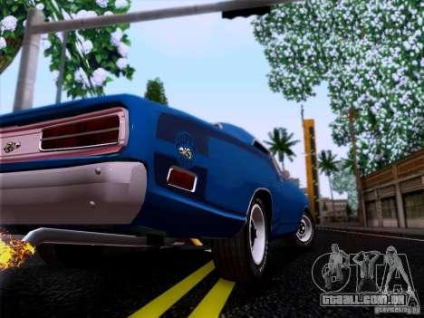Dodge Coronet Super Bee v2 para GTA San Andreas vista traseira